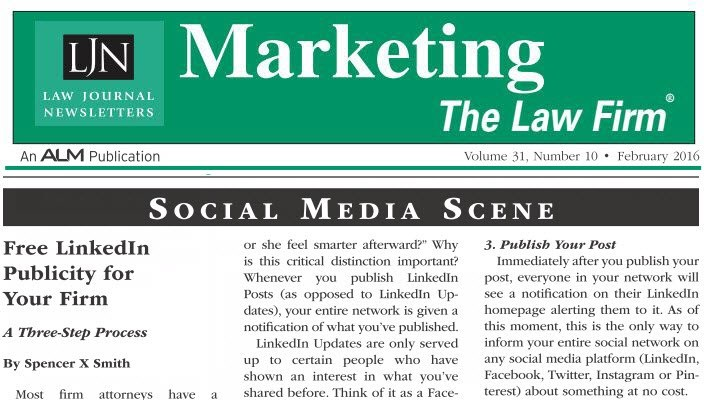 Marketing The Law Firm - Spencer X Smith - Social Media Scene